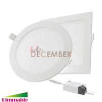 Wholesale Downlight Inch - Recessed Round   Square LED Panel Lights Dimmable 5-6-7-8-9 Inch 9W 12W 15W 18W 21W LED Ceiling Light Downlight