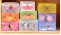 Wholesale Transparent Foldable Shoe Box Wholesale - Multifunctional Shoes Box Breathable Transparent Foldable Dustproof Drawer Type Case Plastic Storage Bins Random 10pcs