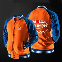 Wholesale Britain Size - Wholesale- In 2017 the new free shipping GREAT BRITAIN TRIUMPH MOTORCYCLE jacket Sweatshirts no hat,The highest quality, USA size.