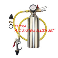 Wholesale Sets Canisters - Wholesale-Free Shipping,Automotive air conditioning cleaning canister cleaning bottle A C system flush SET