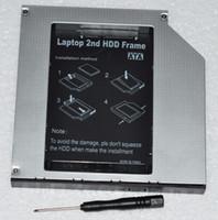 sata ide sabit disk caddy toptan satış-Toptan-2nd 12.7mm PATA IDE SATA Sabit Disk Caddy TS-L632N L632M L632L L632D yerine