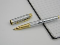 Wholesale art promotion office - office metal gift Stainless golden Arrow Clip Rolle ball Pen Promotion