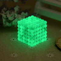 Wholesale Rubik Metal - 222pcs 5mm Noctilucent Bucky Ball Luminous Magnetic Buckyballs Fluorescent Creative Puzzle Magic Cubes Toy Sphere Magnet For Kid Adult 58hp