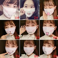 Kawaii Anti Dust Mask Kpop Máscara de algodão Mouth Cute Anime Cartoon Mouth Muffle Máscara facial Emotiction Masque Kpop Winer Máscara quente Presente ZA1490