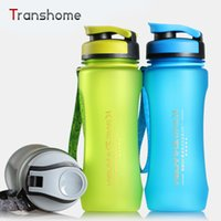 Wholesale Large Plastic Lid - Wholesale- 2016 New Sports Bottle Portable Large Capacity Plastic Kettle Space Cup Of Sports 600ML Protein Shaker Water Tank