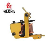 Wholesale Hot Tattoo Casting - Hot sale Professional Casting Iron Liner Tattoo Machine 10 Wraps Coil Stainless Steel Tattoos Body Art Gun Makeup Tool 1001905-5