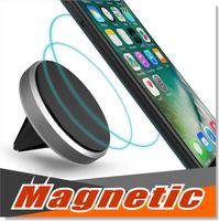 montagem premium venda por atacado-Suporte de montagem do carro clipe para smartphone universal magnética air vent armação de alumínio titular do telefone para iphone 6 7 plus com pacote de varejo