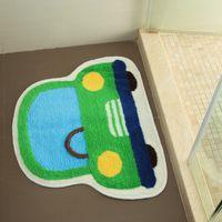ingrosso stuoie auto gialle-50x65cm carino colorato cartone animato auto tappeto anti scivolo bagno tappeto camera da letto per bambini camera da letto assorbimento d'acqua