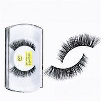 Wholesale Eye Lash False Eyelashes Extension - Hot Mink Eyes Mink Eyelashes False Eyelashes Makeup 100% Real Mink Natural Thick Eyelashes Hair Handmade Eye Lashes Extension Beauty Tools