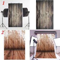 Wholesale Wholesale Vinyl Flooring - 0.9x1.5M Retro Wood Floor Vinyl Baby Photography Backdrop Photo Background Props
