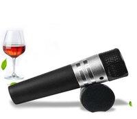 rolhas de vinho de moda venda por atacado-Novo Vinho Tinto Vacuum Stopper moda de metal e elegante saca-rolhas Presentes do Negócio