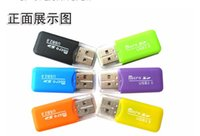 Wholesale Colourful Plug - Mini USB 2.0 Card Reader for Micro SD Card TF card Adapter Plug and play colourful choose from