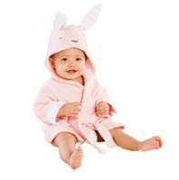 ingrosso animali personaggi dei cartoni animati-ingrosso Disegni di moda con cappuccio Animal Modeling Baby Accappatoio Cartoon corda bambino carattere bambini accappatoio neonato