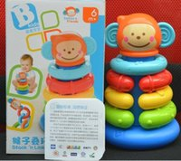 Vente en gros- The New Baby Toy Monkey Folding Cup Tumbler Stacking 6 Months + Baby Toys