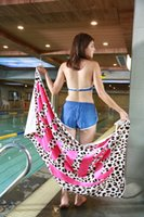 Wholesale Quality Bathroom Towels - Top Quality Pink Letter Soft Beach Towel Pink Fitness Sports Towel VS Pink Bath Towel Leopard Flower Swimwear Bathroom Towels MT04