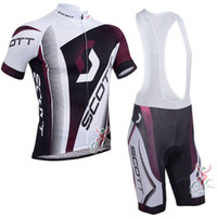 Wholesale Scott Bike Clothing - 2017 Pro Scott Cycling jerseys bike clothes Bicycle Clothing Mens short sleeves Bib Shorts Set mtb maillot ropa ciclismo C0226