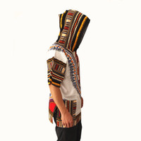 Wholesale Wholesale Fashion Tunic Tops - Wholesale- 2017 Fall Fashion Sweashirt Women Dashiki Hoodie Casual Short Sleeve Hooded Tunic Jumper Top for Unisex dashikis with a hood