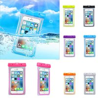Wholesale Ipx8 Waterproof Case - High Quality 100% IPX8 Waterproof Bag Mobile Phone Dry Pouch Bag Case, Florescent Design, 20M Underwater Water For Phone Case Universal