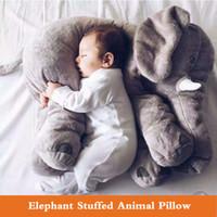riesen-spielzeug gefüllt elefanten großhandel-40cm / 60cm buntes riesiger Elefant-Plüschtier-Spielzeug-Tierform-Kissen-Baby spielt Plüschausgangsdekoration freies Verschiffen