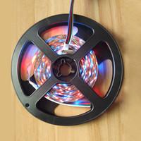 Wholesale Cheap Led Ribbon - Wholesale-LED Strip 300 LED 5M 2835 RGB light Xmas New year String Ribbon lamp More Brighter than 3528 3014 Cheap Than 5050 5630 Tape