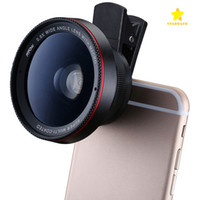 Wholesale Lens For Cell Phones - HD Camera Lens 2 in1 Professional 0.6X Super Wide Angle Lens 15X Macro Lens Universal Clip-On Cell Phone Len for iPhone Samsung