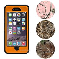 Wholesale Iphone Waterproof Case Clip - Camo Defender Robot Case With Belt Clip Waterproof cover For iphone 7 6 6s plus S8 S7 S6 edge plus retail package