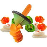 Wholesale Carving Fruit Vegetables Tools - Creative Spiral Vegetable Slicer Cooking Tools Kitchen Accessories  Fruit Vegetable Carving Tools Kitchen Gadgets Roll Flower