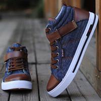 Wholesale Slip Shoes Men Cowboy - 2016 men Boots non-slip Casual Flat Shoes Winter Ankle Boots man fashion Sneakers Canvas Shoes 2 Colour