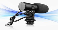 Wholesale Digital Slr Video Camera - Mic-01 Digital Video Dv Camera Professional Studio stereo Shotgun Recording Microphone Digital SLR Camera