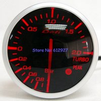 Wholesale Defi Advance - Wholesale-Free Shipping: 60mm Defi Link Advanced BF Auto Turbo Boost Meter Smoke Lens Auto Turbo Boost Gauge (White Red LCD Light)