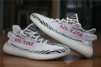 Wholesale Zebra High Boots - Highest Version CP9654 Zebra Boost 350 V2 Kanye West Season 3 SPLY 350 Boost V2 Shoes Black Red CP9652 Running Shoes
