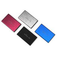 "Wholesale Sata Hard Drive Caddy Usb - Wholesale- SATA I,II,III USB 3.0 Metal SSD HDD Enclosure Free shipping 2.5"" Hard Drive Caddy Box"