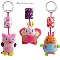 Wholesale Owl Infant Toys - Wholesale- Baby Crib Stroller Toy 0-12 months Plush Owl Butterfly Ladybug Musical Infant Newborn Hanging Baby Rattle Soft Playpen Bed Pram