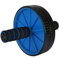 ingrosso apparecchiatura di forma fisica libera il trasporto-Spedizione gratuita Home Sport Fitness Equipment Mezzo Ossa addominale Wheel Roller Ab per le attrezzature esercizio di fitness Ab Rulli