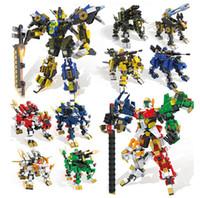robots espaciales al por mayor-1150 unids + serie hsanhe mutil-change 4 en 1 bloques de robot de lucha conjunto león vaca espacio estrella robot ladrillos para niños mejor regalo