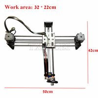 Wholesale Axis Xy - DIY Smart Writing Drawing Robot Mini XY 2 Axis CNC Pen Plotter Machine Advanced Toy Stepper Motor Drive Inkscape 32x22cm