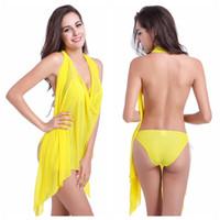Wholesale Long Skirt Swimsuit - swimwear cover up for women long tankini tops swimsuit cover up skirt
