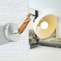 Wholesale Battery Decorative Lamp - Modern Wall Lamps Sconces Energy-Saving lamp For Living Room Wooden Restaurant Bedroom Decorative For Home Decoration Portable Lanterns