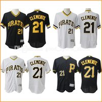 Wholesale hot sale Pittsburgh Pirates baseabll jerseys Roberto Clemente stitched Majestic Flex Base Authentic Collection Player Jersey