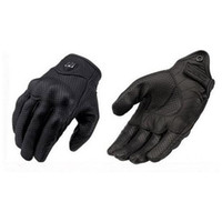 Wholesale Leather Gloves Xl - Moto Racing Gloves Leather cycling gloves Perforated Leather Motorcycle Gloves black color M L XL size