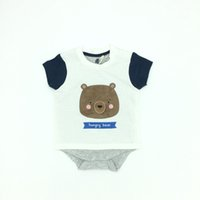Wholesale Infant Cute Romper Designs - Infant Clothes Boys Summer Romper Cotton Short Sleeve Cute Animal Fashion Design Brand Baby Boy Clothes