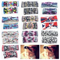 Wholesale turban head wrap bands - New Baby Headbands Cross Knot Polka Dot Hair Bands Mom & Baby Turban Twisted Knotted Yoga Head Wraps Mother Daughter Headwear Set KMHA33
