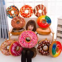 karikatür minderleri toptan satış-Yaratıcı Karikatür Donuts Yastık Kanepe Sandalye Dekoratif Yastık Moda Peluş PP Pamuk Yastık Oyuncak Hediye 40 CM Ücretsiz Kargo WX-P13