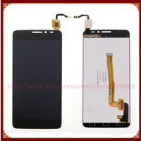 Wholesale One X Screen Lcd - Wholesale- Black White LCD Screen with Touch Screen Digitizer Assembly For Alcatel One Touch Idol X+ X Plus OT6043 6043 6043D Free Shipping