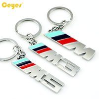Wholesale Bmw X1 Car - Auto Key holder Car key rings M Emblems Badge for bmw e70 x5 e82 e93 m3 x1 e87 e46 Keychian Car Accessories Styling