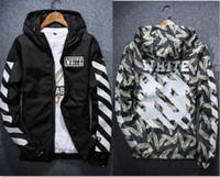 Wholesale Long Sleeve Stripe Pocket - High Quality Fashion Camouflage Kanye West Jacket Pablo Tour Windbreaker Jacket Off Stripes MENS jackets