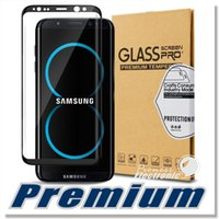 Wholesale Screen Protectors Designs - Premium Samsung Galaxy S8 Tempered Glass Screen Protector Exact Design S8 Plus Full Screen Coverage 3D Curved Edge Anti-Scratch