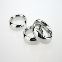 Wholesale adult male cockrings for sale - Group buy Newest Male Cockrings Thickening Stainless Steel Delayed Gonobolia Penis Ring Cockring Adult Bondage Men BDSM Sex Toy Product Size