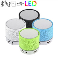 Wholesale Led Mini Ligh - Wholesale- WIRELESS MINI LED LIGHT BLUETOOTH SPEAKER , WITH USB TF BLUETOTH FM RADIO , COLORFUL LED LIGH, PORTABLE SUBWOOFER SPEAKER FOR SM
