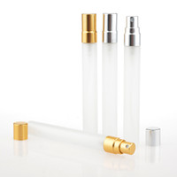 Wholesale Glass Atomizer Bottles Frosted - 10ml Travel Frosted Glass Perfume Bottle Refillable Spray Atomizer Portable Tube Glass Sample Vials Makeup Containers F2017109